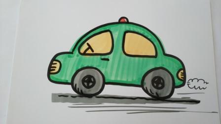 交通工具简笔画.小汽车