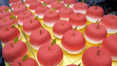 世界上颜值最高最好吃的甜品:苹果慕斯奶油蛋糕!免费教程给你