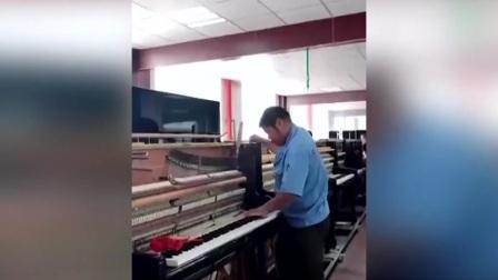 第一时间 辽宁卫视 2021 粗犷大叔弹钢琴优美动听