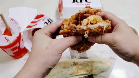 """65元肯德基""""双层鸡排菠萝堡"""",吃一个,相当于吃两个牛肉汉堡"""