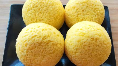 玉米面最好吃的做法,加2个鸡蛋,筷子一搅,手不沾面,松软香甜