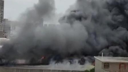 广东揭阳一塑料厂房发生火灾,现场腾起巨大蘑菇云惊险救援曝光