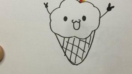 这样画彩虹雪糕#简笔画