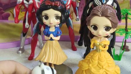 童年趣事:斑马佐伊去参加白雪公主的生日派对了