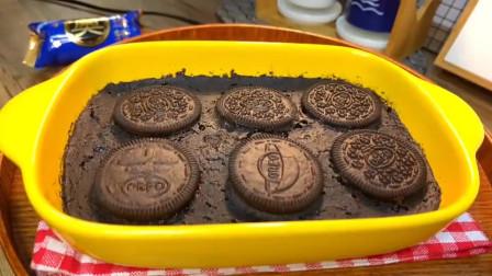 看到国外的小哥哥用奥利奥做了蛋糕,跟着做了下果然简单又好吃!