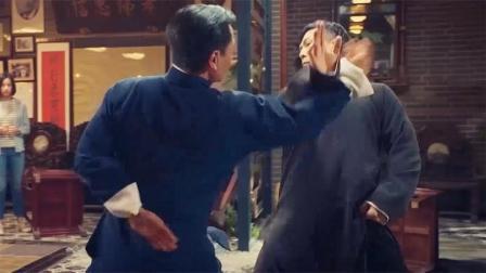 《叶问4:完结篇》甄子丹与吴樾上演咏春对太极 推手动作难分胜负