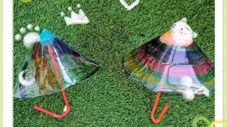 郑州航空港区八千幼儿园夏至三班创意伞的制作过程!
