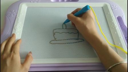 儿童画画:这个生日蛋糕你学会了吗?
