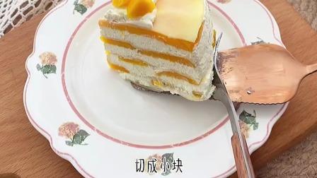芒果千层蛋糕,不仅做法简单而且吃起来口感也非常棒