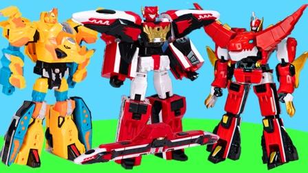 心奇爆龙战车4变形机甲玩具,机器人可变换成飞火列车