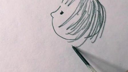 超可爱又简单的人物简笔画