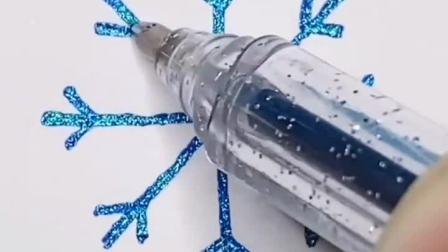 超简单系列儿童画:雪花就该怎样画