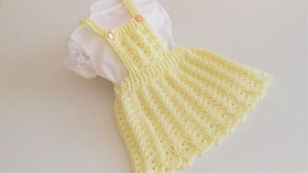 「钩针编织」麻花纹理的背带裙图解视频