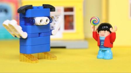 儿童益智动画:抢走小朋友糖果的坏蛋终于住了
