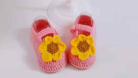 太阳花宝宝鞋全集,手工制作婴儿鞋视频新手宝妈易学图解视频