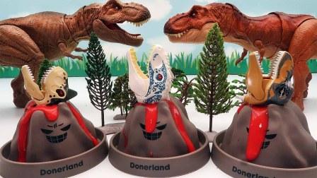 恐龙玩具探险 火山熔岩恐龙乐高侏罗纪世界恐龙