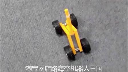 diy杠杆原理皮筋动力车 科技小制作 我爱发明