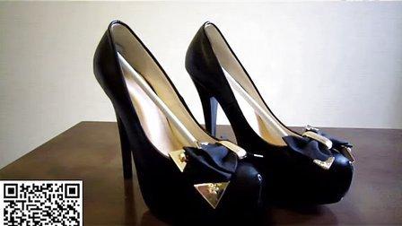 2013新款高跟鞋子韩国公主夜店女鞋蝴蝶结细跟防水台圆头性感单鞋