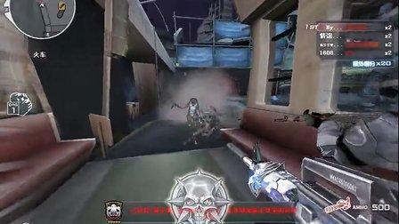 【P猪大侠】CF穿越火线解说:潇洒!M4A1雷神血洗巨人城废墟!