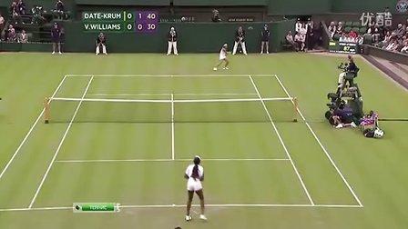 2011温布尔登网球锦标赛女单R2 大威廉姆斯VS伊达公子 (自制HL)