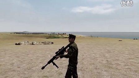 武装突袭2虎子哥介绍巴雷特XM109榴弹枪的一些特性演示。