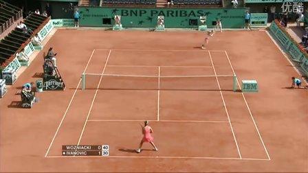 2008法国网球公开赛女单R3 伊万诺维奇VS沃兹尼亚奇 (自制HL)