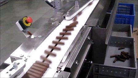 巧克力包装机 自动包装机 自动理料包装 理料包装机 高速理料线