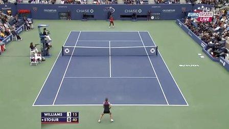 2011美国网球公开赛女单决赛 小威廉姆斯VS斯托瑟 (自制HL)