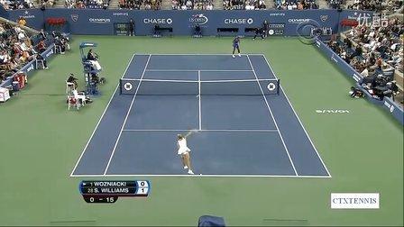 2011美国网球公开赛女单SF 小威廉姆斯VS沃兹尼亚奇 (自制HL)