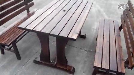 炭化木桌椅 车轮桌椅 酒吧桌椅 咖啡桌椅 炭化桌椅 防腐木 休闲桌椅