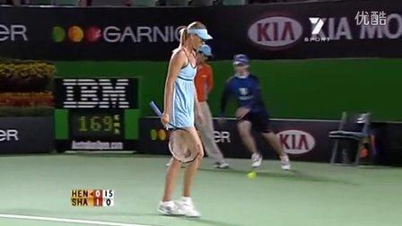 2006澳大利亚网球公开赛女单SF 莎拉波娃VS海宁 (自制HL)