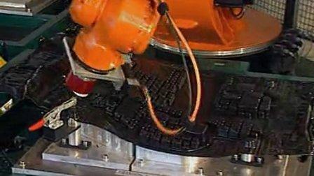 库卡机器人切割应用视频