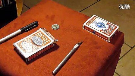 迪龙魔术2012硬币进牌盒教学Coin2 box by Sean Mills(无密码)
