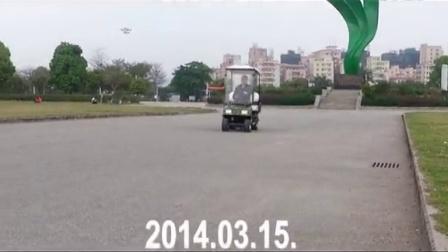 A3高尔夫型四轮电动老年代步车试驾2014