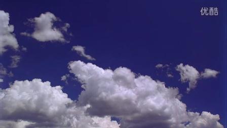 天空云彩蓝天白云云层变化云浪翻滚快速移动云彩高清实拍视频素材