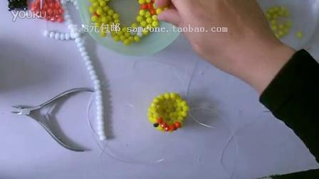 手工手串编绳编织视频教程-小黄鸭子-3