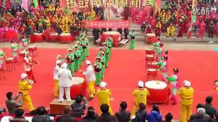 大荔县首届群众锣鼓大赛荣获一等奖的苏村镇陈村锣鼓队视频_高清