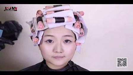 短发烫发卷杠技巧 短发纹理烫发视频