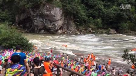 宁德市屏南县白水洋漂流。