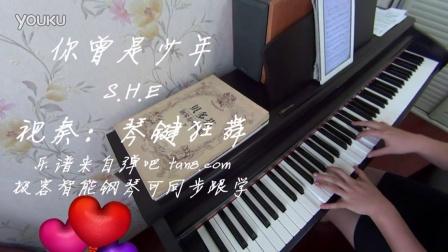 SHE 你曾是少年 钢琴曲 _tan8.com
