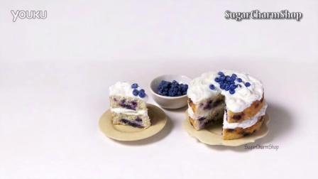 [软陶教程]蓝莓蛋糕制作过程