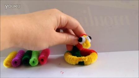 毛根扭扭棒视频教程-蛇的制作方法