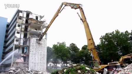 CAT 5080长臂挖掘机拆迁作业