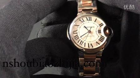 手表之家 CARTIER卡地亚蓝气球系列 V6厂出品 36MM间金女士机械手表