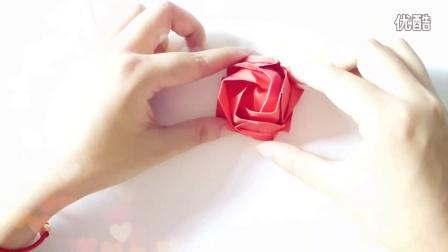 【文小文课堂】手工折纸 川崎玫瑰花(节七夕)文小文教你学折纸 第三期