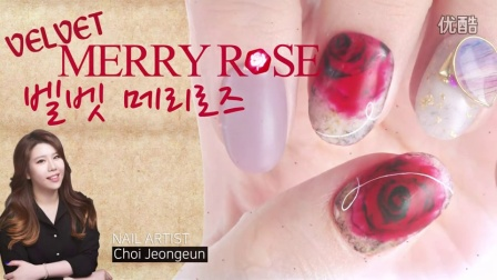 (ENG CC) 圣诞玫瑰 - 熙可丽 - Velvet Mary rose nail art- POLARIS