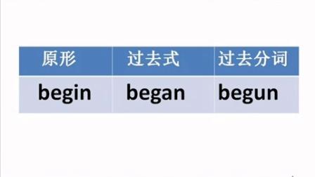 初中动词不规则表