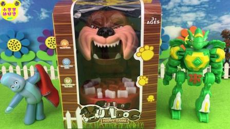 动漫卡通亲子玩具 2017 斗龙战士 花园宝宝 玩转小心恶犬玩具 10 花园宝宝玩转小心恶犬玩具