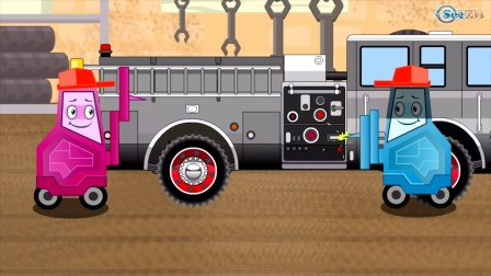 FIRE TRUCK - Vehicles for Kids in Cars Cartoon for Toddlers w Cars for Children