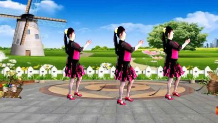 最新吕芳广场舞《山不转水转》经典老歌好看好学舞正背面及分解动作